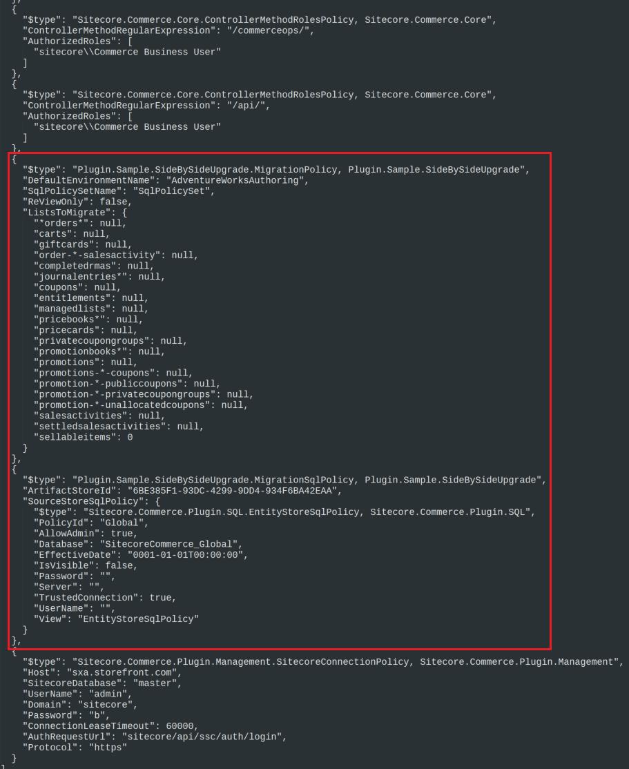 global.json config file