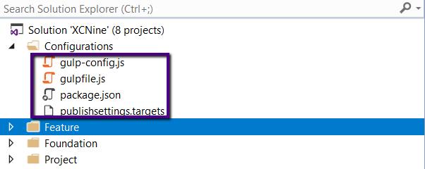 Visual Studio folder configurations