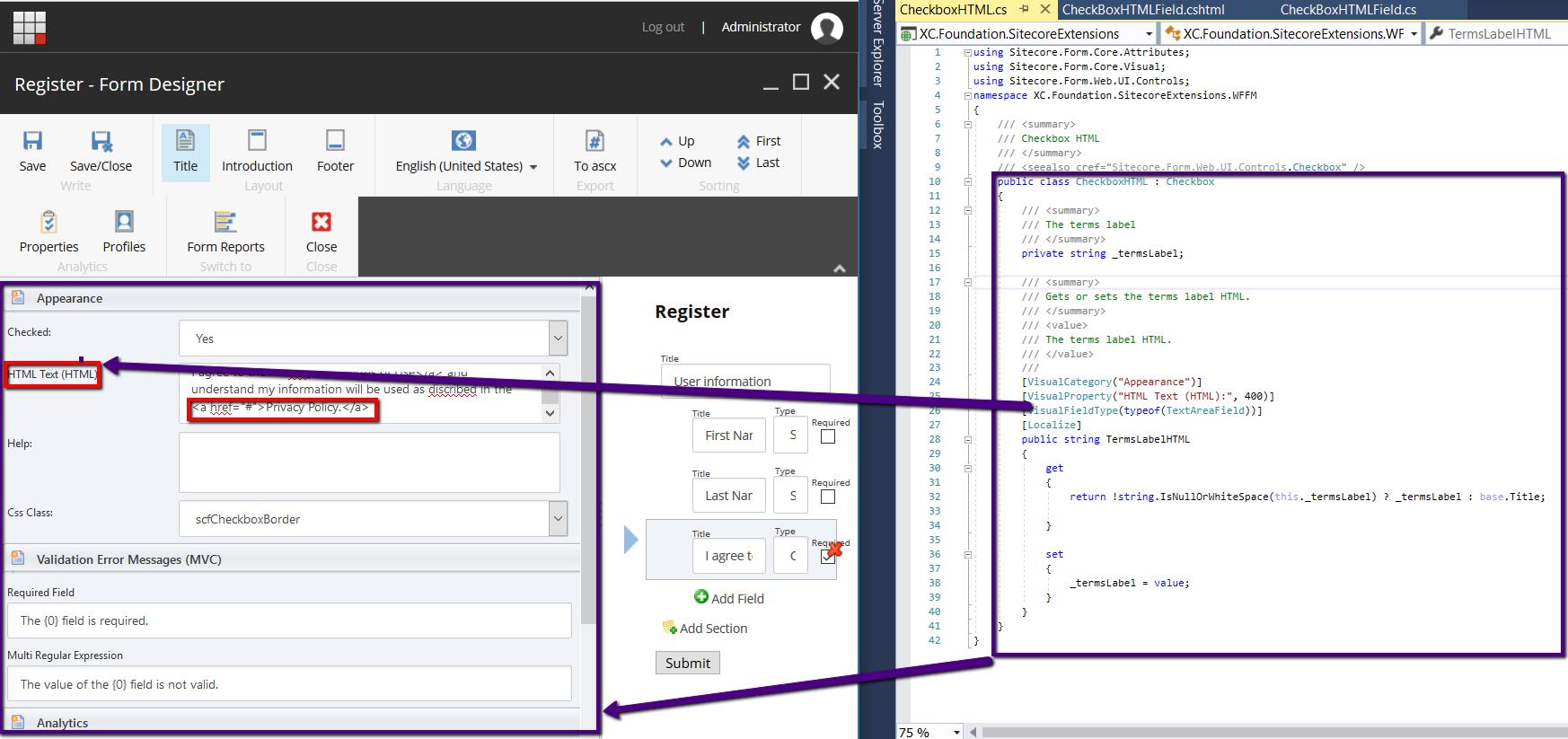 CheckboxHTML Class and WFFM Form Designer