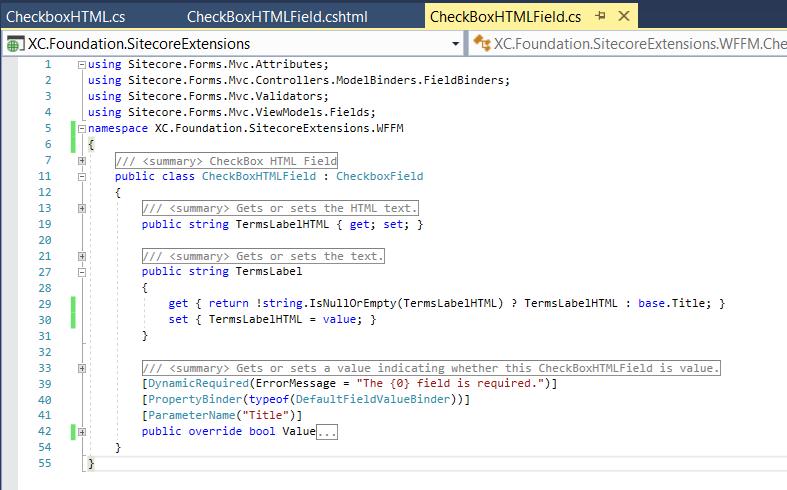 CheckboxHTMLFIeld class